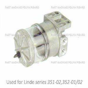 قطعات لیفتراک - فیلتر گازوئیل با پایه لیفتراک لینده